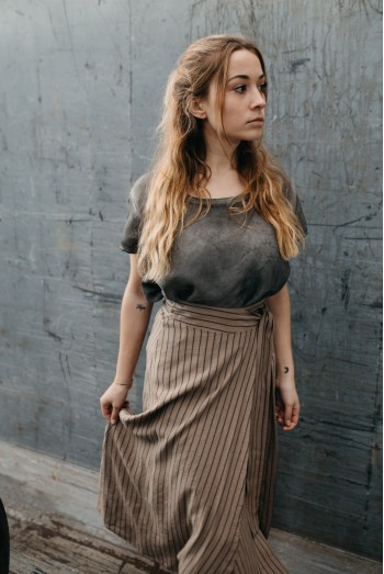 PAREO STRIPPED SKIRT